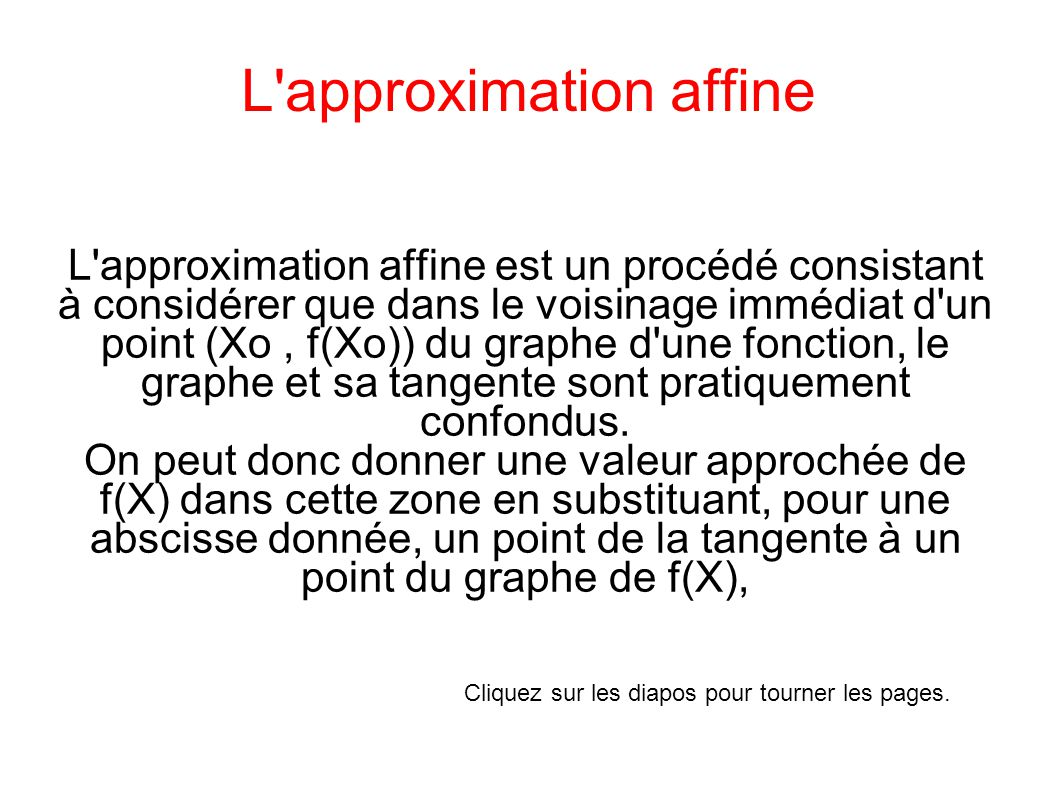 L approximation affine