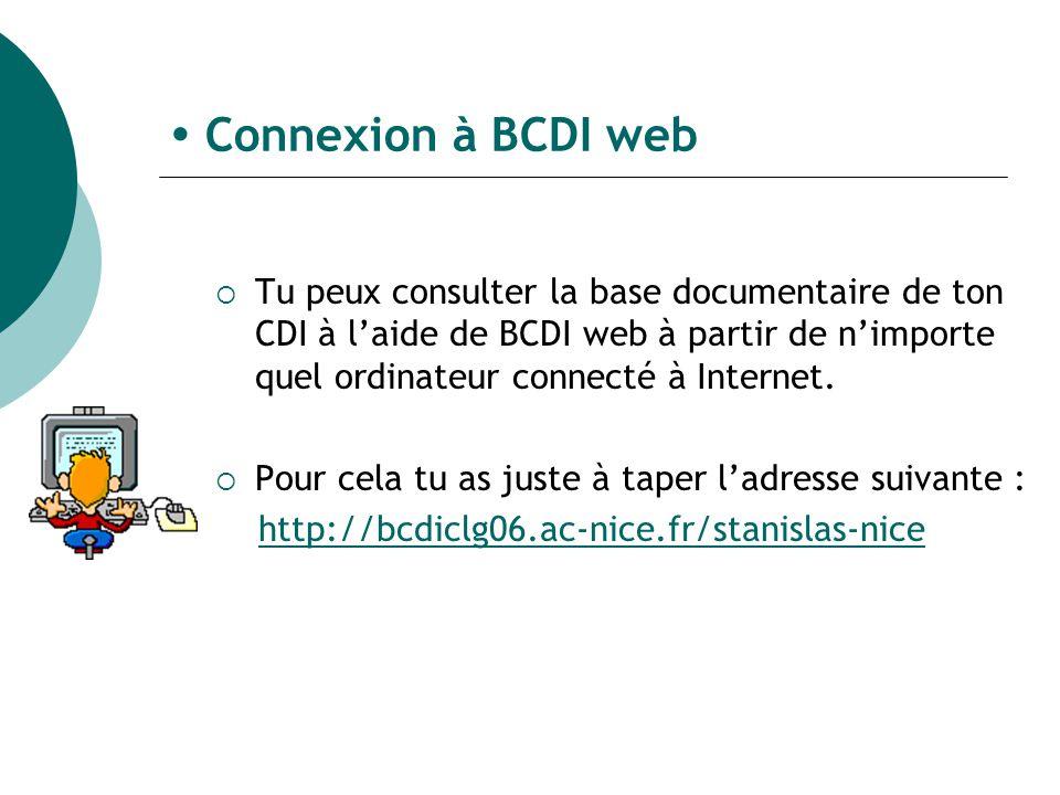  Connexion à BCDI web