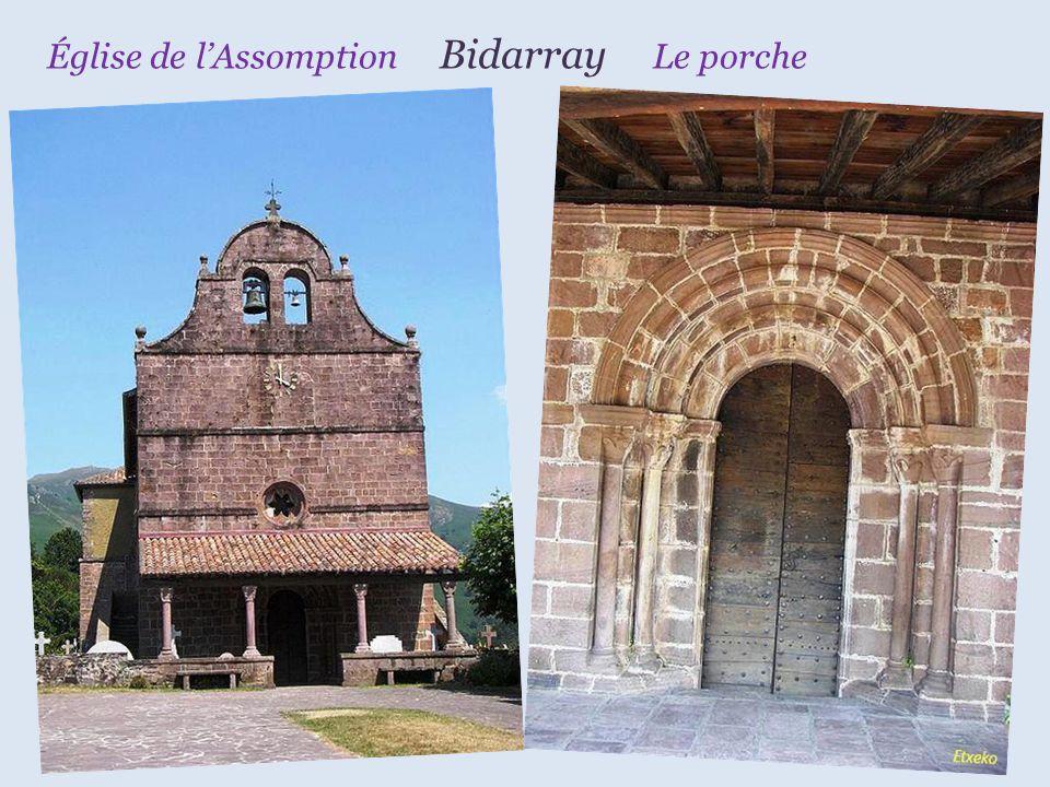 Église de l'Assomption Bidarray Le porche