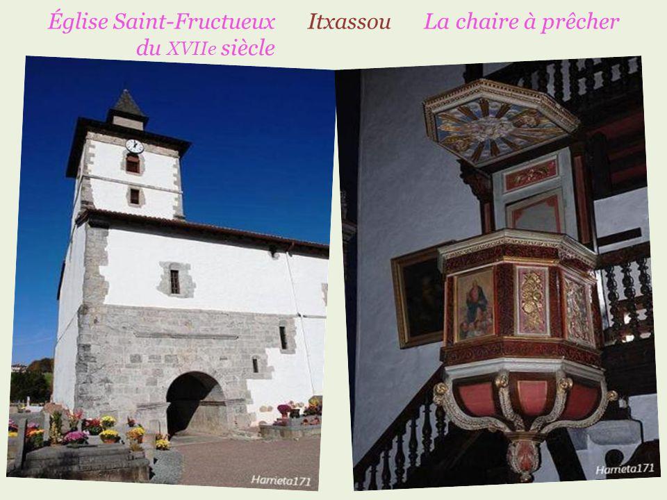 Église Saint-Fructueux Itxassou La chaire à prêcher du XVIIe siècle …… ……………………………