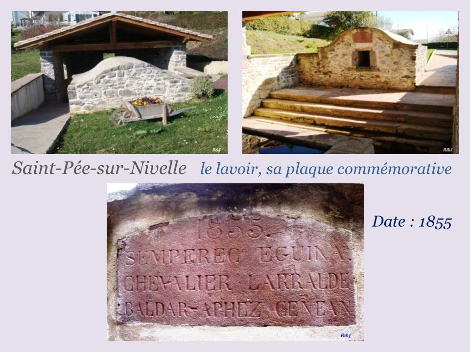 Saint-Pée-sur-Nivelle le lavoir, sa plaque commémorative