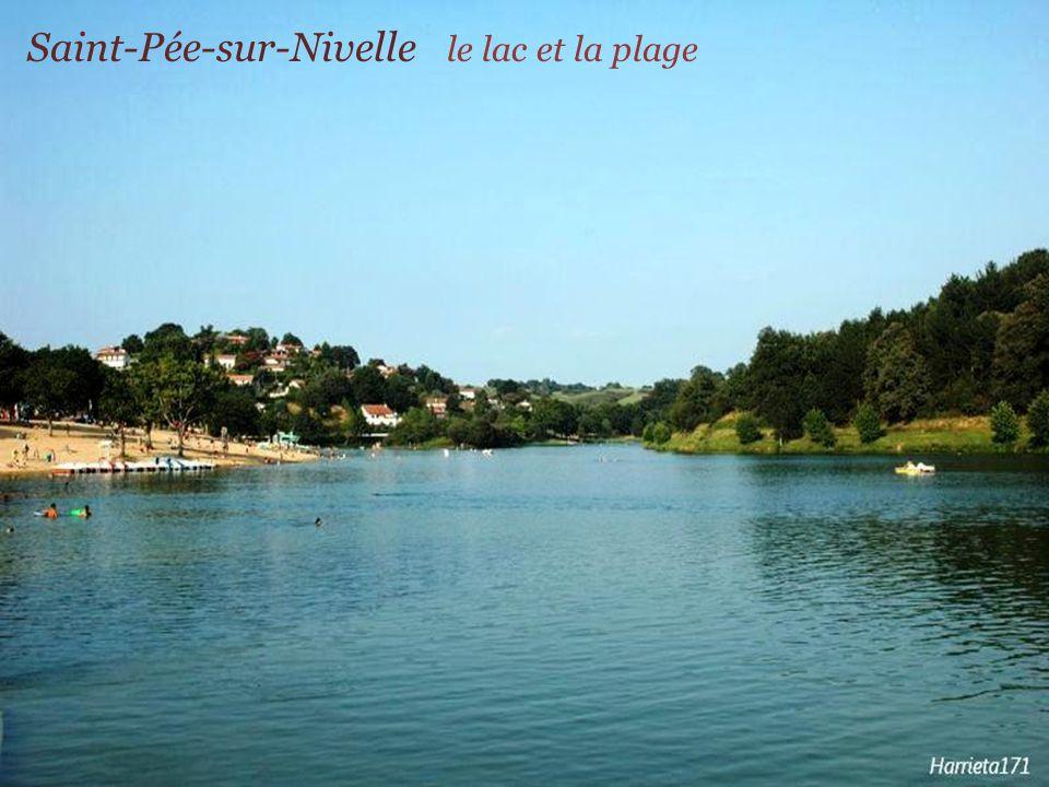 Saint-Pée-sur-Nivelle le lac et la plage