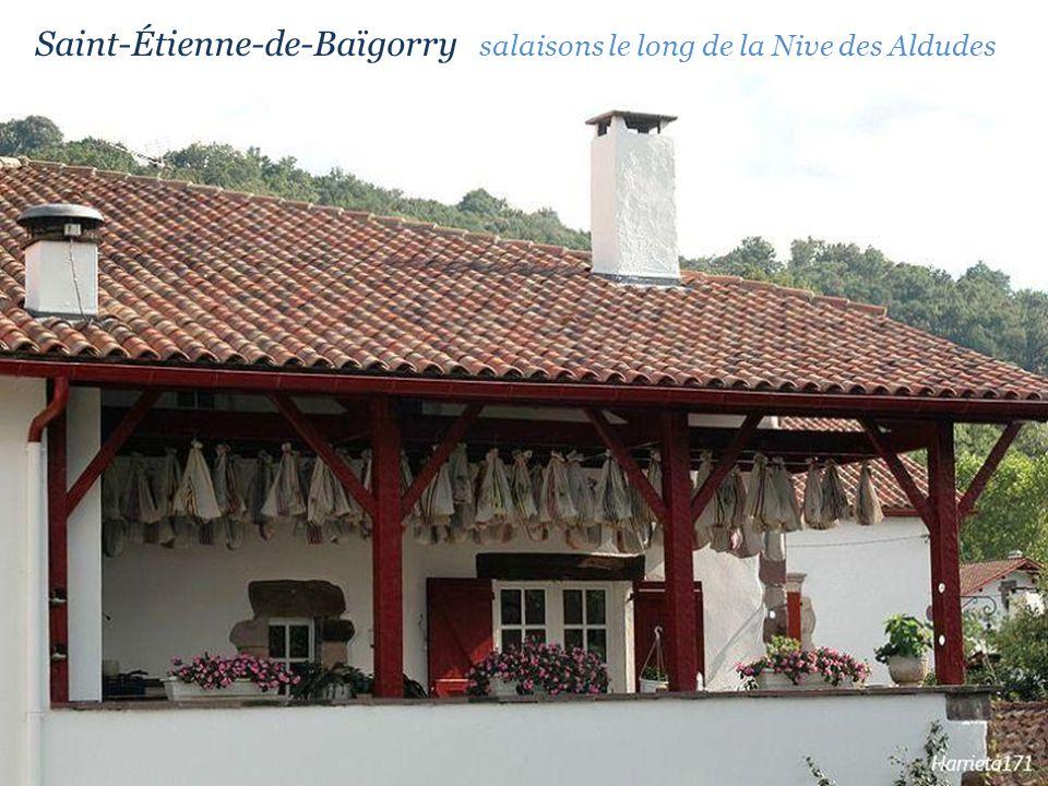 Saint-Étienne-de-Baïgorry salaisons le long de la Nive des Aldudes