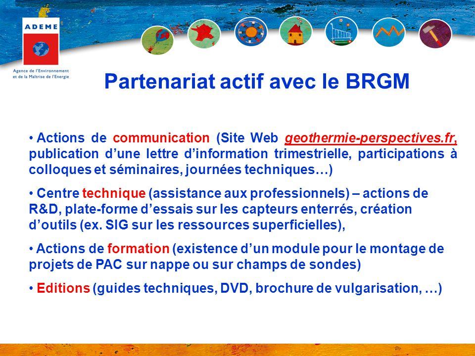 Partenariat actif avec le BRGM