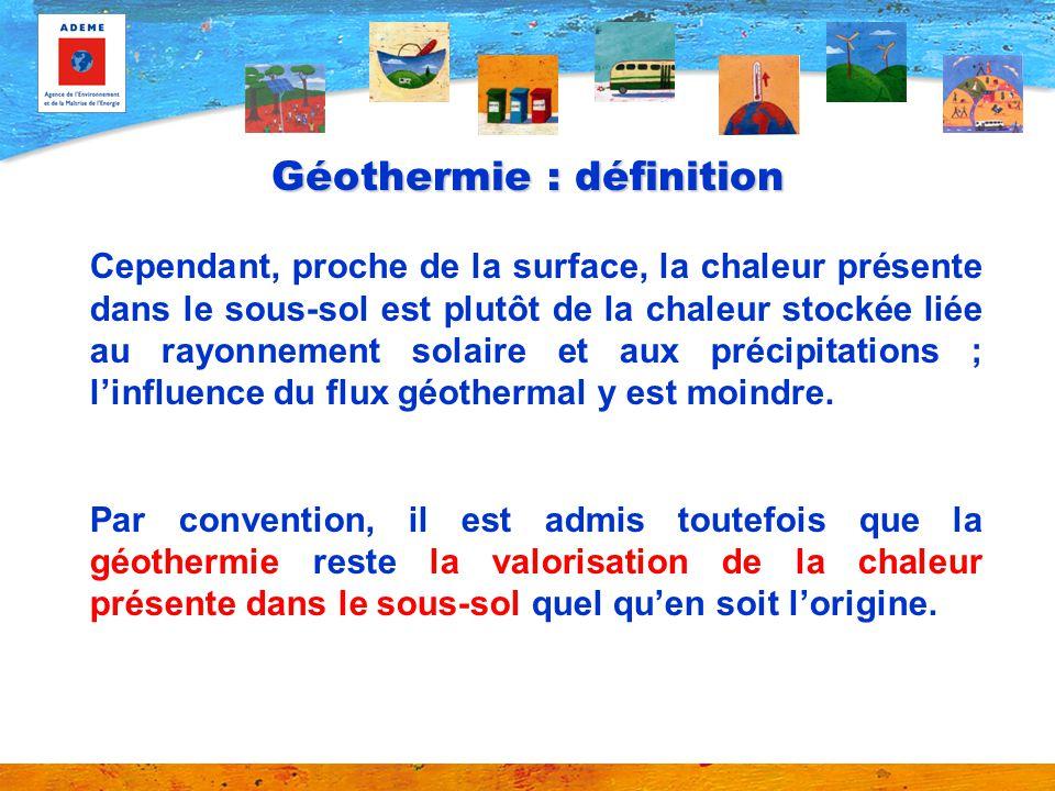Géothermie : définition