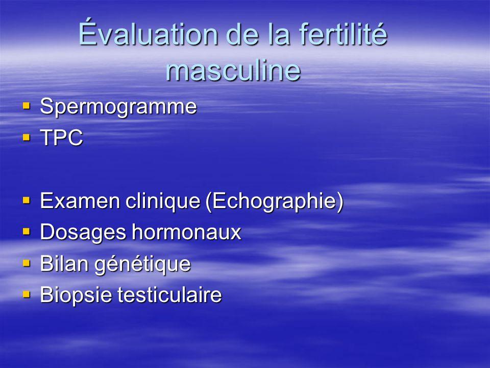 Évaluation de la fertilité masculine