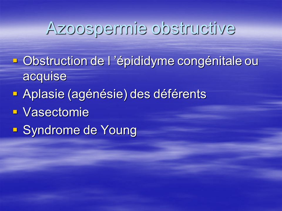 Azoospermie obstructive