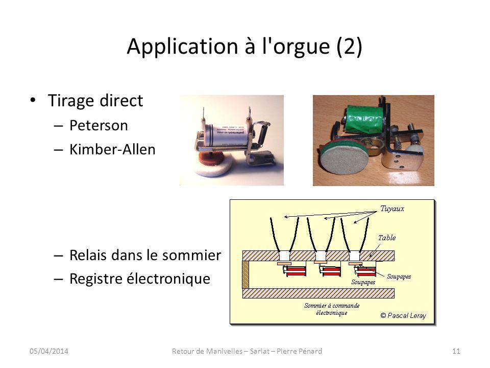 Application à l orgue (2)