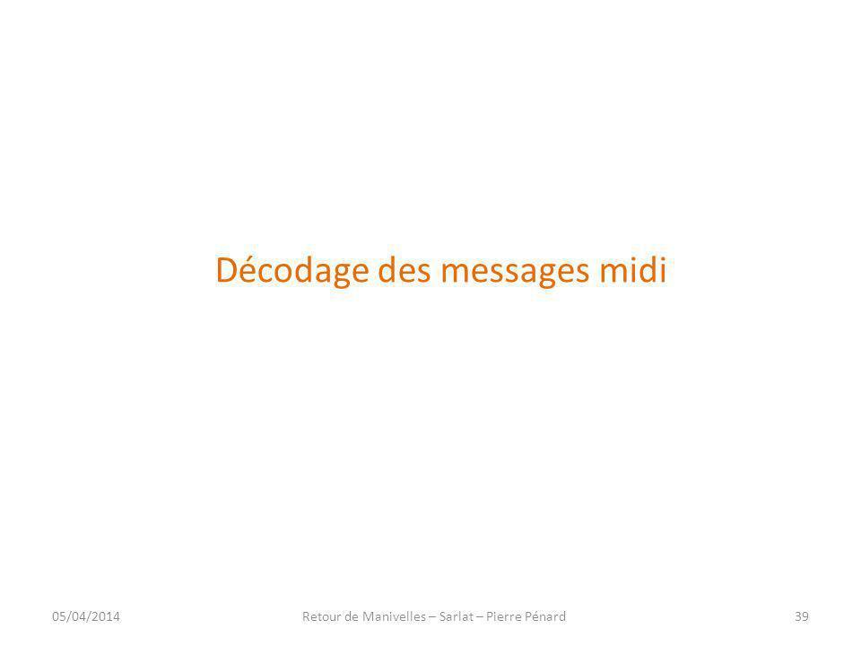 Décodage des messages midi
