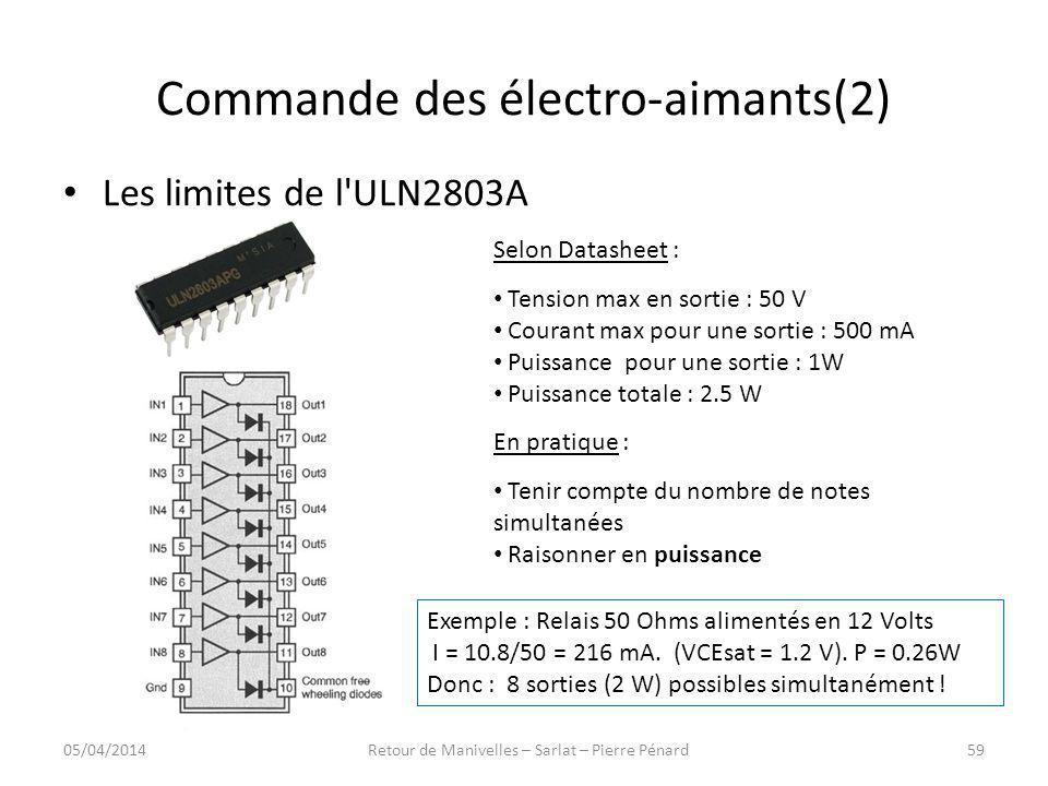 Commande des électro-aimants(2)