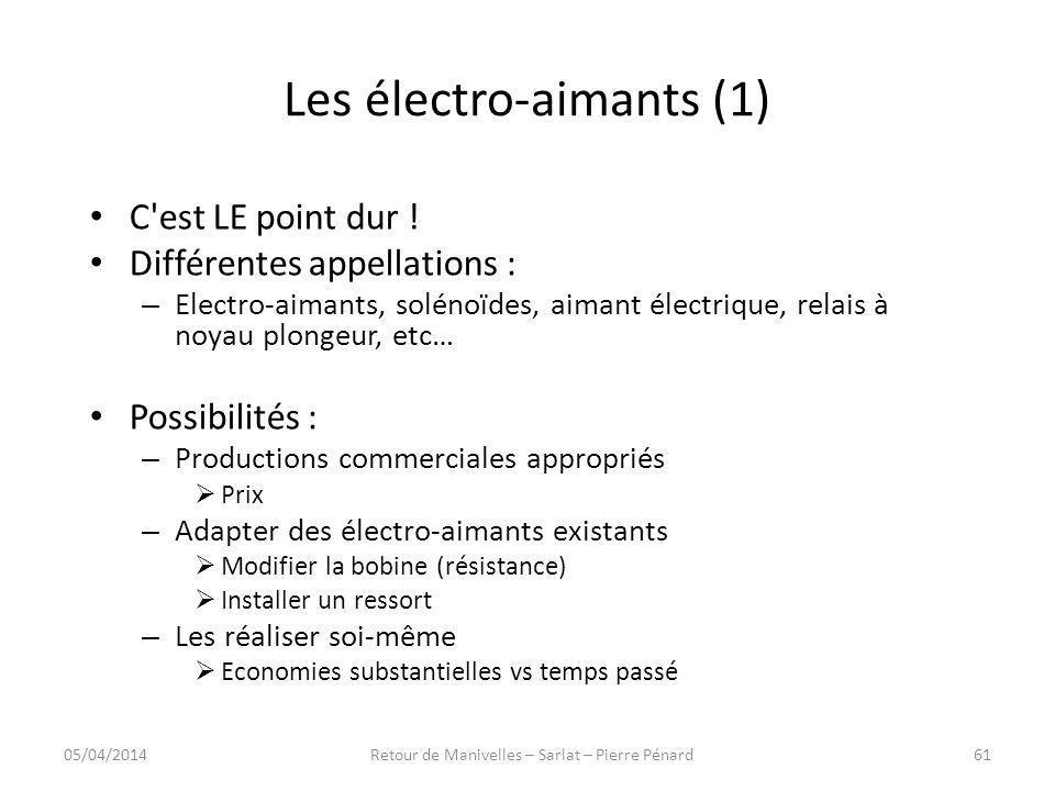 Les électro-aimants (1)