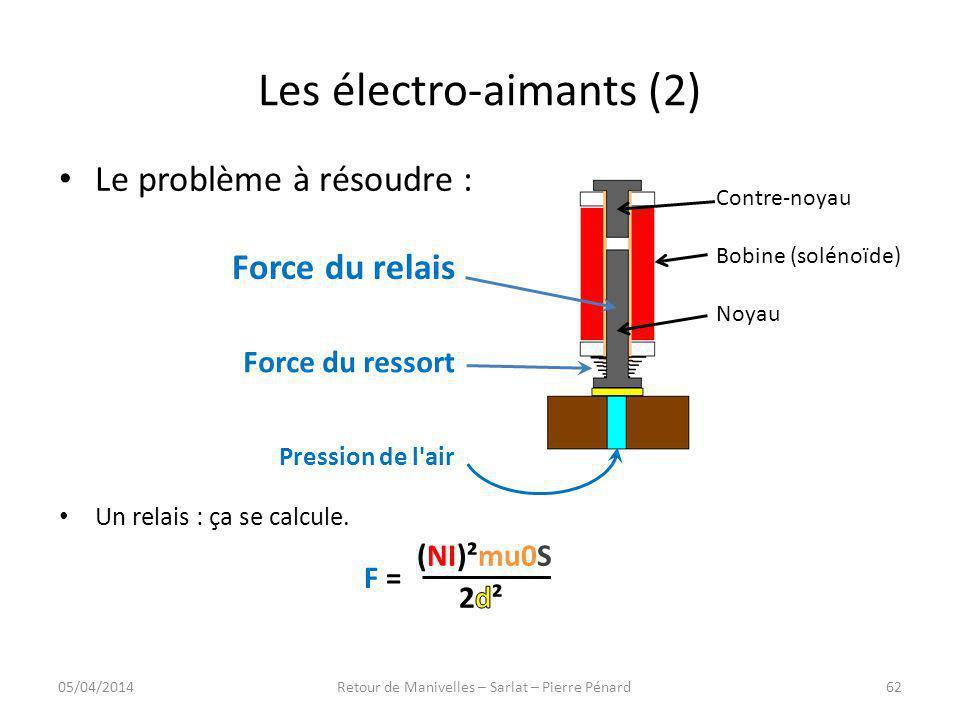 Les électro-aimants (2)