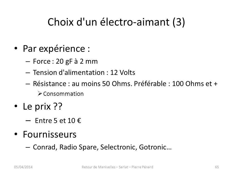Choix d un électro-aimant (3)