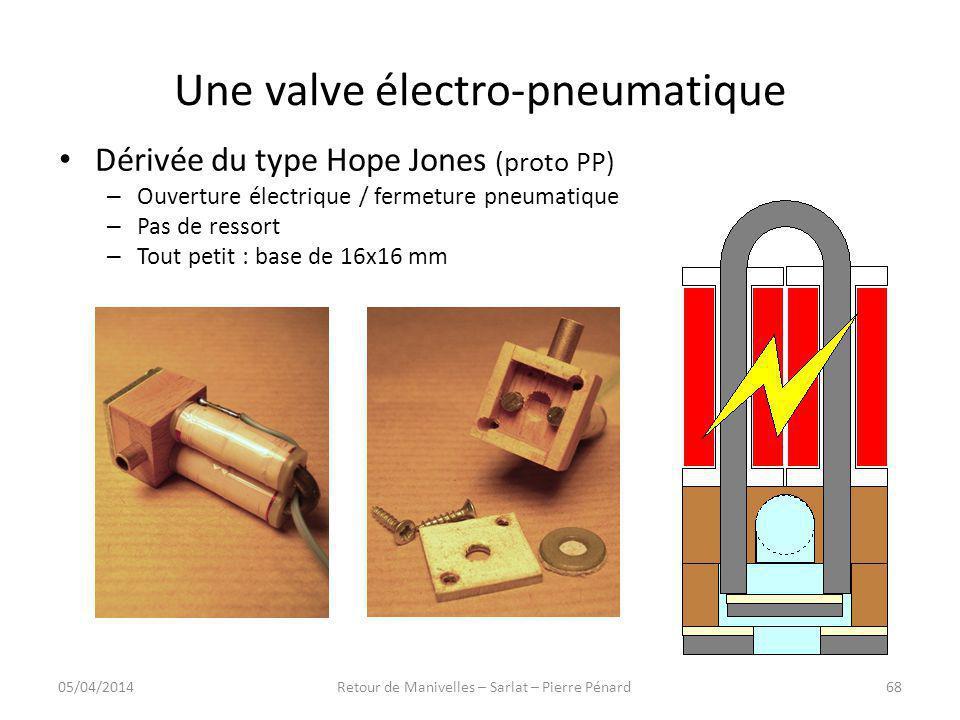 Une valve électro-pneumatique