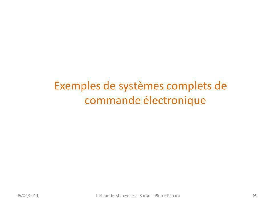 Exemples de systèmes complets de commande électronique