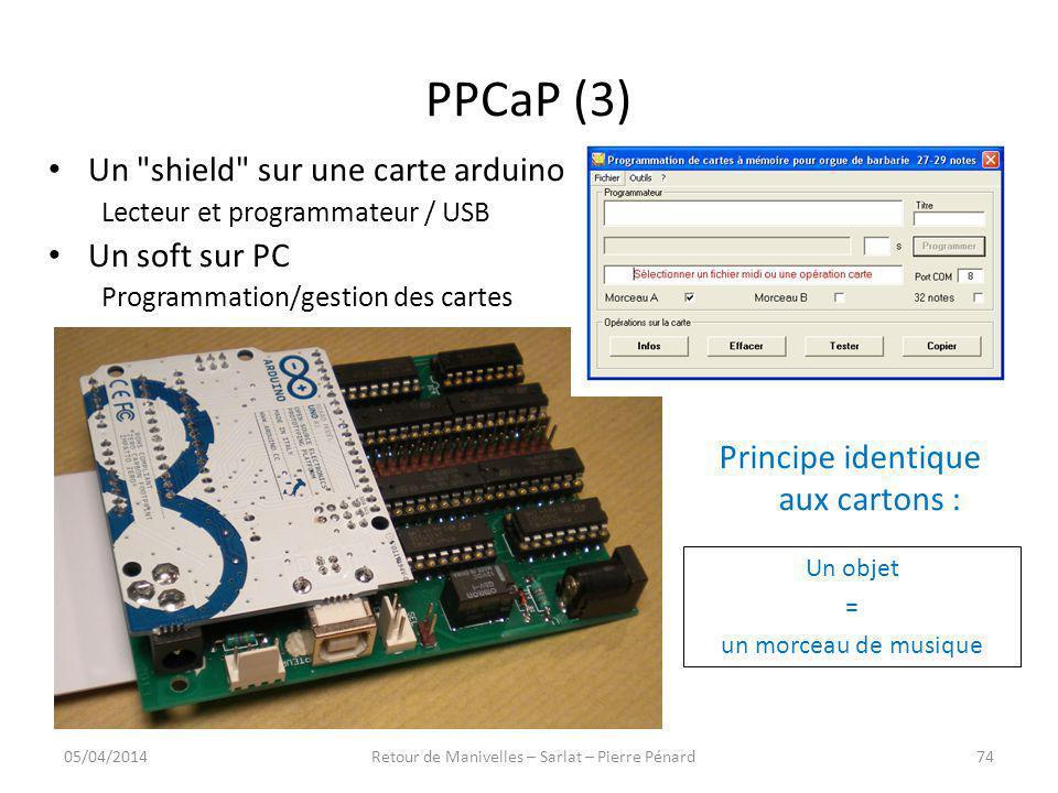 PPCaP (3) Un shield sur une carte arduino Un soft sur PC