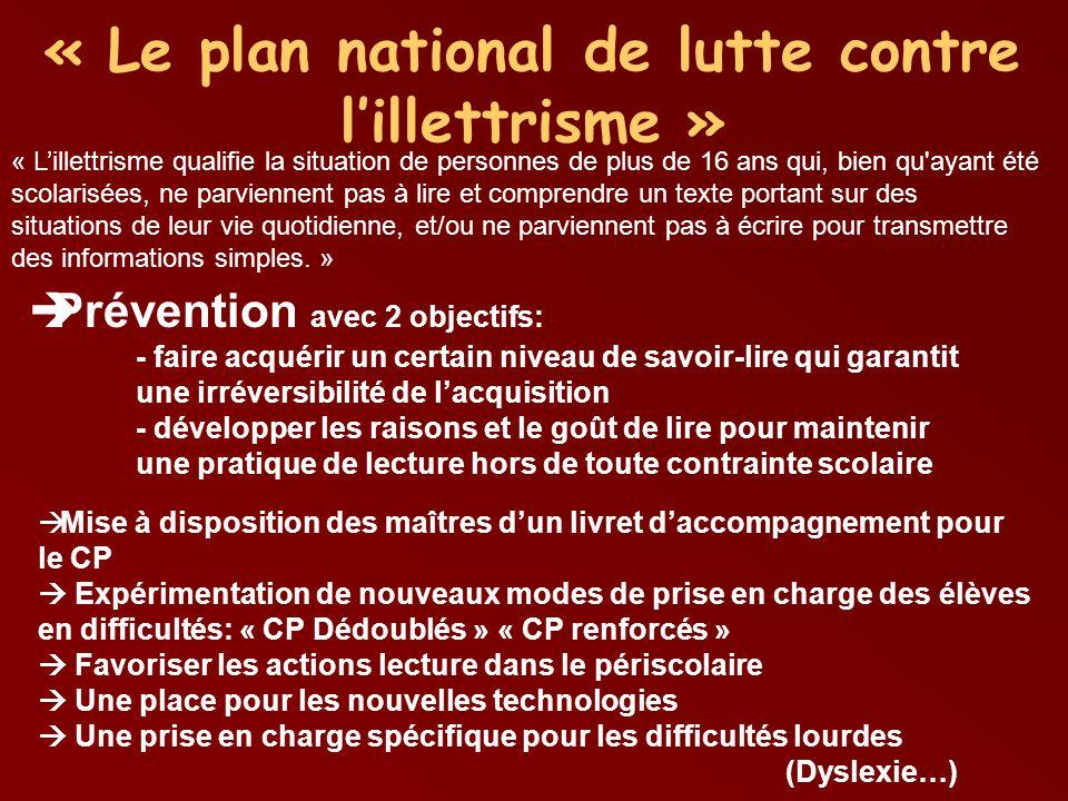 « Le plan national de lutte contre l'illettrisme »
