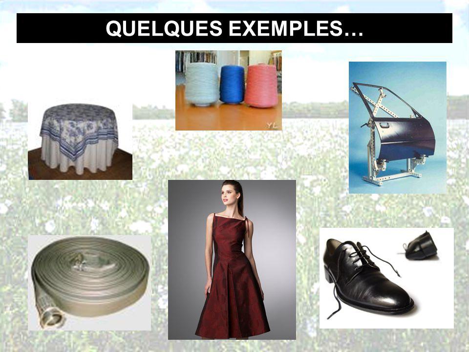 QUELQUES EXEMPLES…