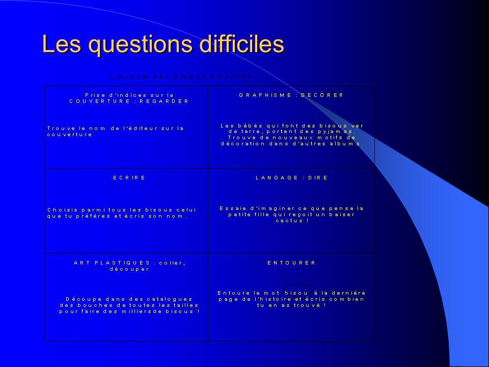 Les questions difficiles