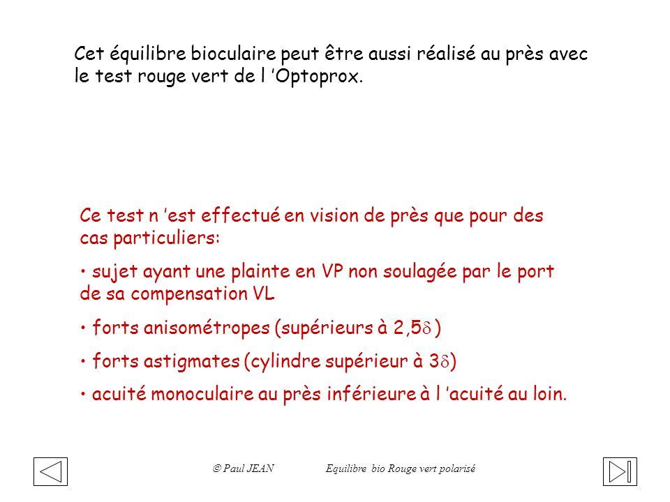  Paul JEAN Equilibre bio Rouge vert polarisé