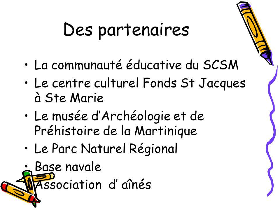 Des partenaires La communauté éducative du SCSM