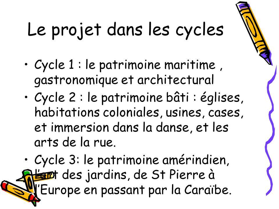 Le projet dans les cycles