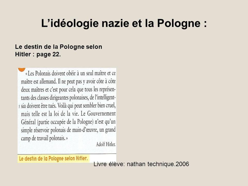 L'idéologie nazie et la Pologne :