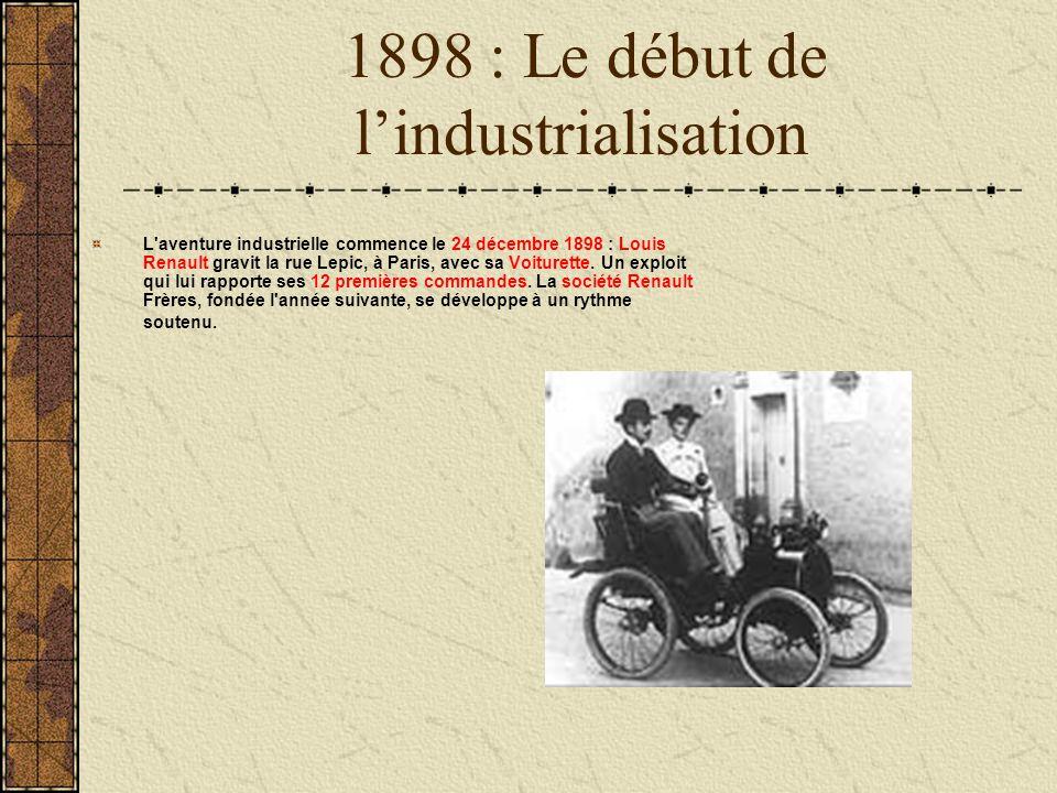 1898 : Le début de l'industrialisation
