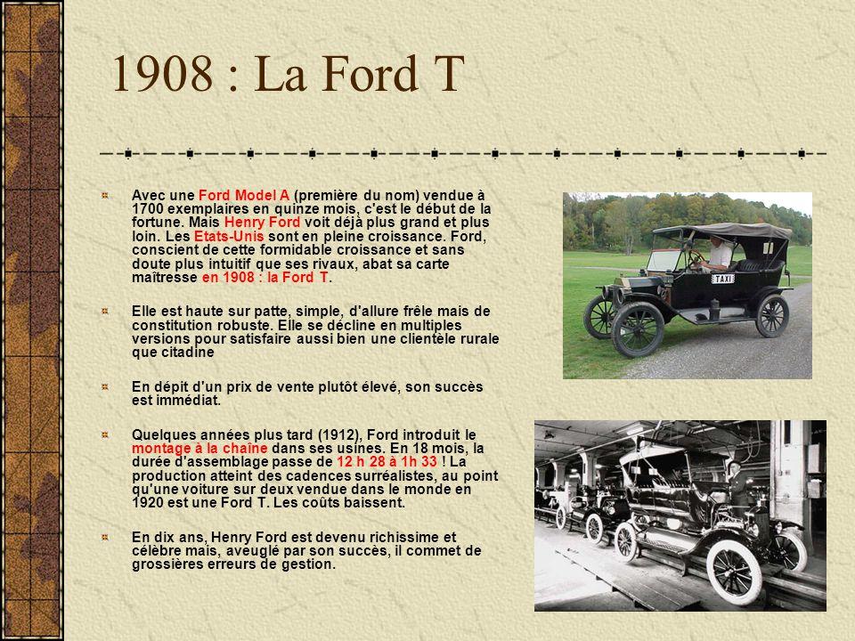 1908 : La Ford T