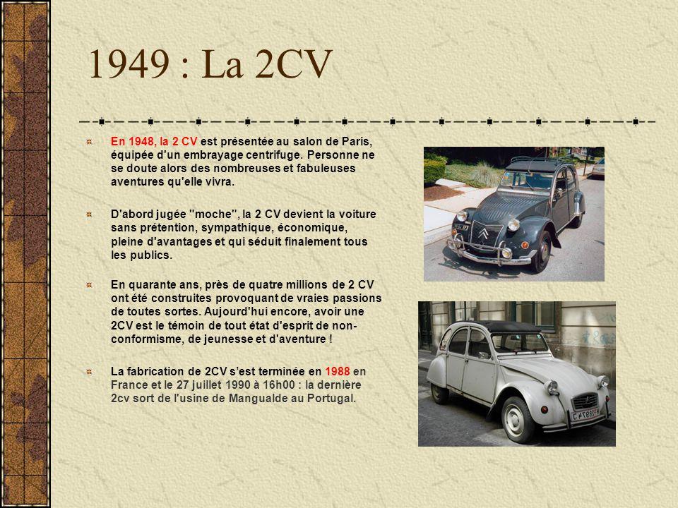 1949 : La 2CV