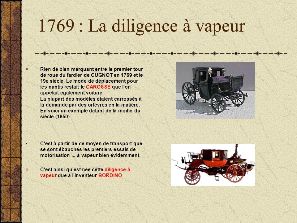 1769 : La diligence à vapeur