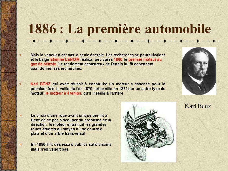 1886 : La première automobile