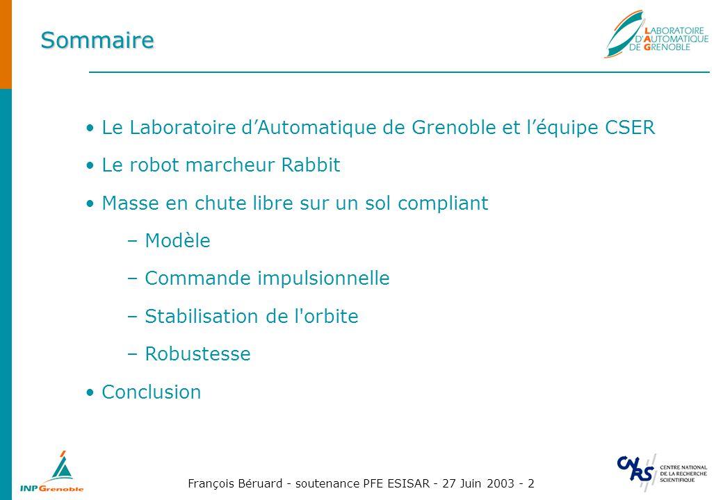 Sommaire Le Laboratoire d'Automatique de Grenoble et l'équipe CSER