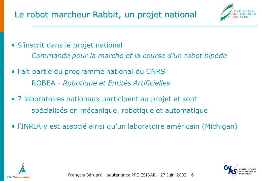 Le robot marcheur Rabbit, un projet national