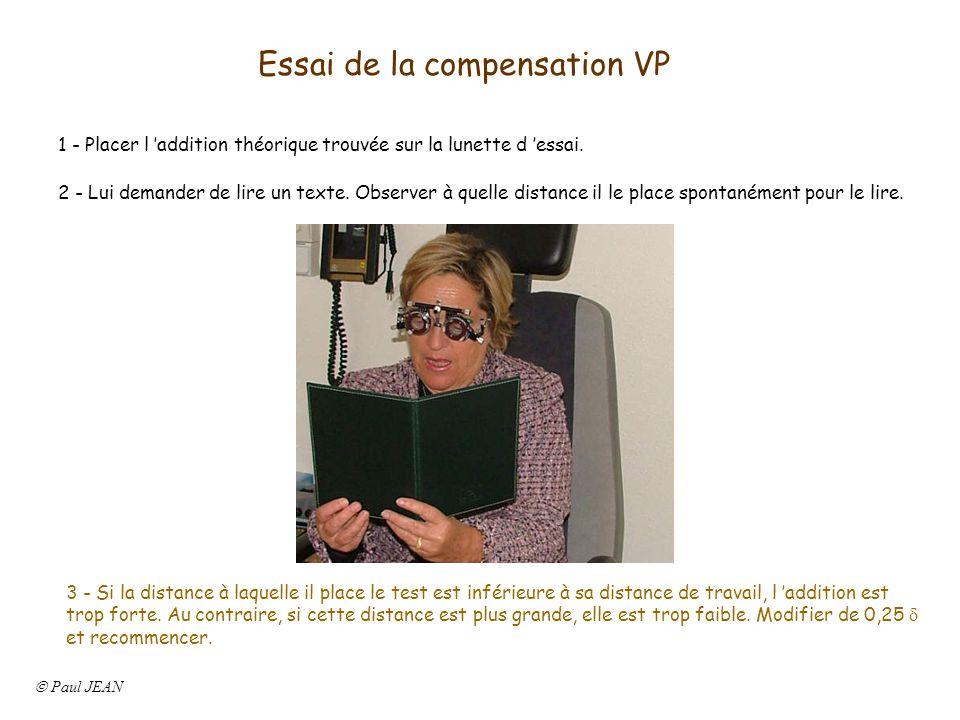 Essai de la compensation VP