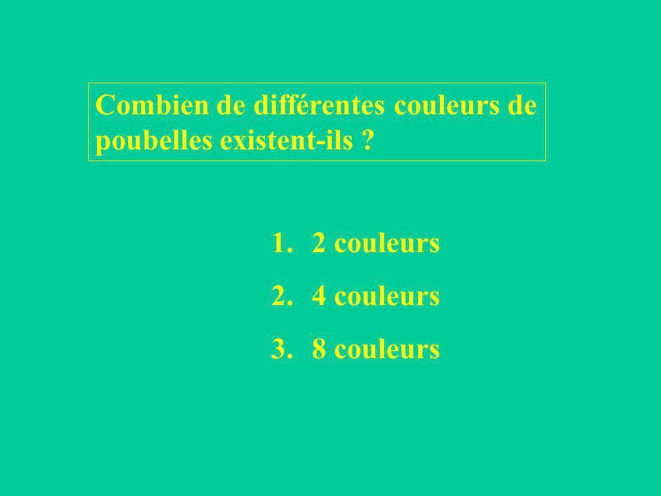 Combien de différentes couleurs de poubelles existent-ils