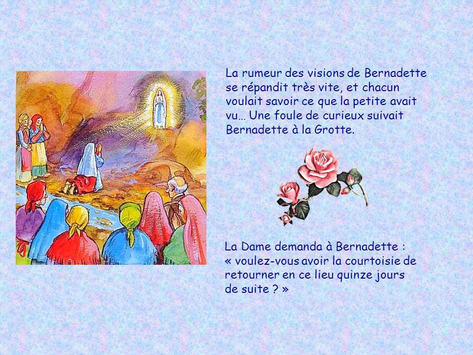 La rumeur des visions de Bernadette