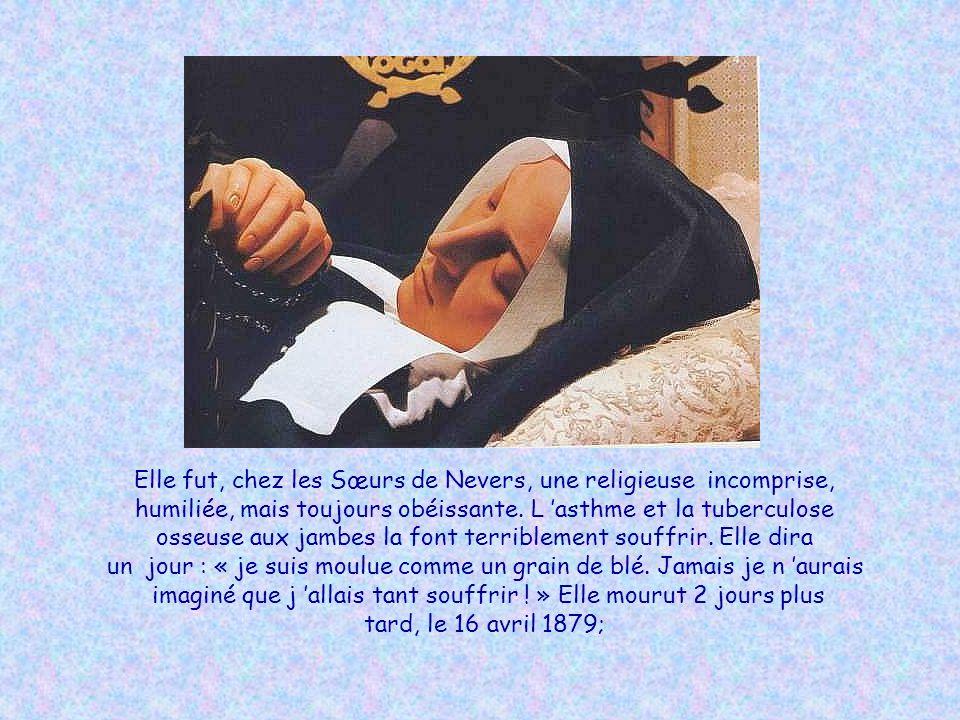 Elle fut, chez les Sœurs de Nevers, une religieuse incomprise,