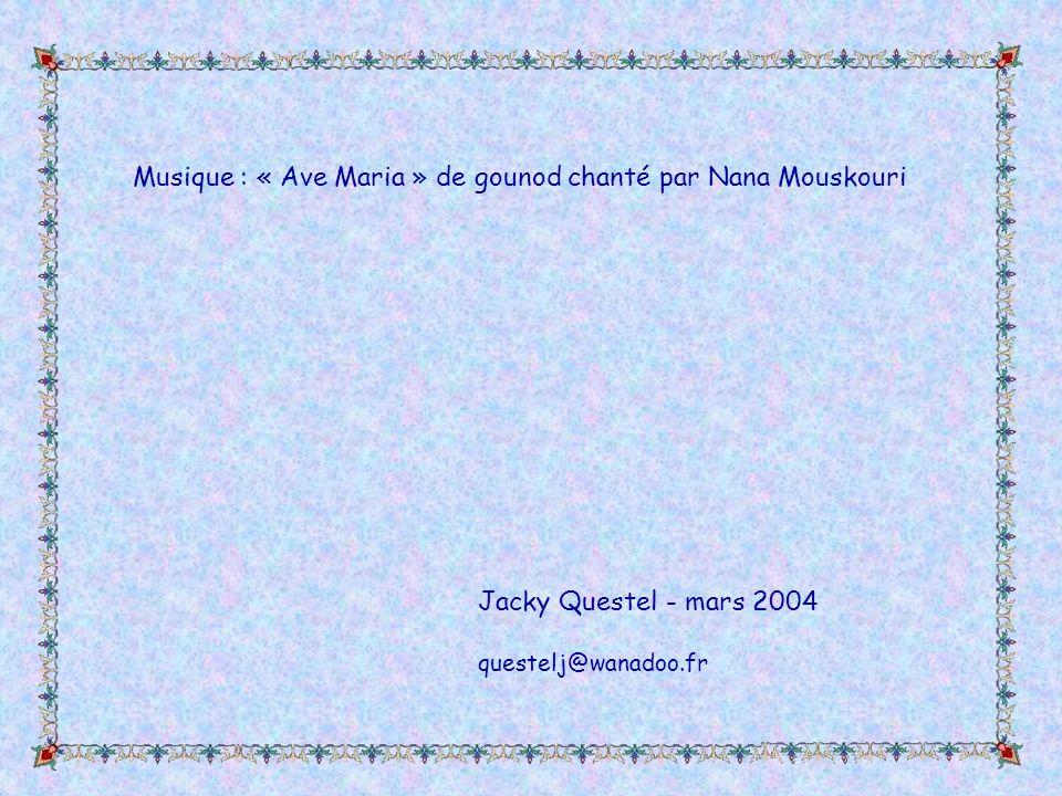 Musique : « Ave Maria » de gounod chanté par Nana Mouskouri