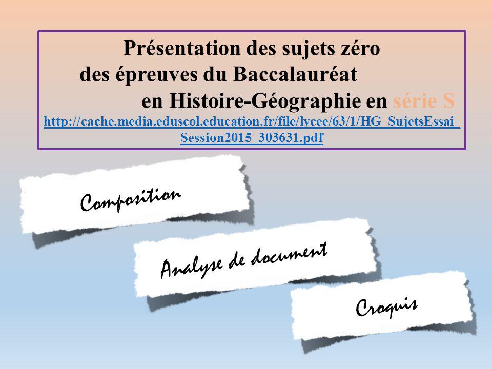 Composition Analyse de document Croquis Présentation des sujets zéro