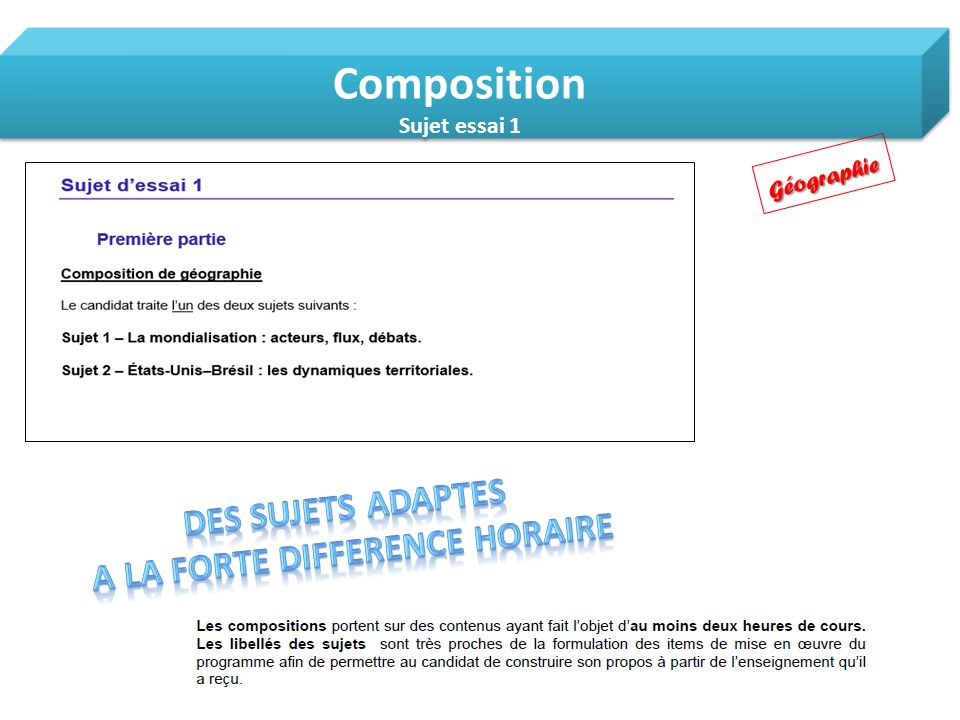 A LA FORTE DIFFERENCE HORAIRE