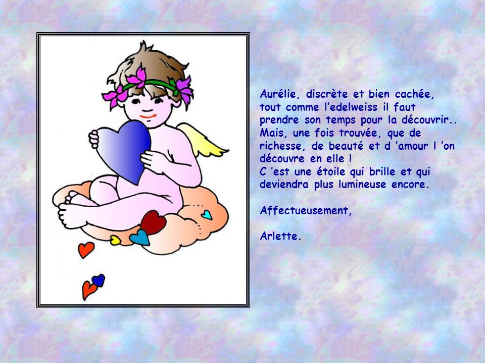 Aurélie, discrète et bien cachée,