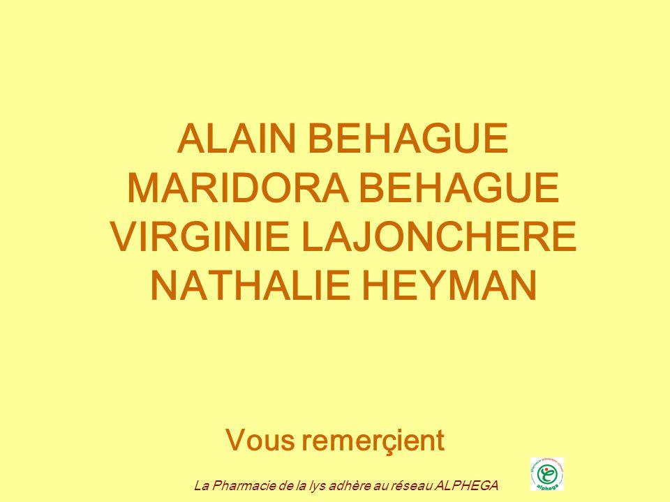 ALAIN BEHAGUE MARIDORA BEHAGUE VIRGINIE LAJONCHERE NATHALIE HEYMAN