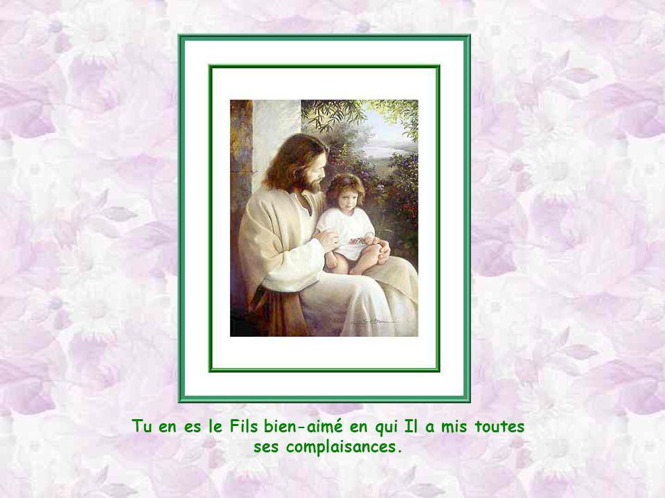 Tu en es le Fils bien-aimé en qui Il a mis toutes