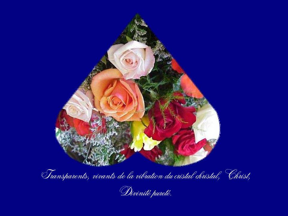 Transparents, vivants de la vibration du cristal christal, Christ,