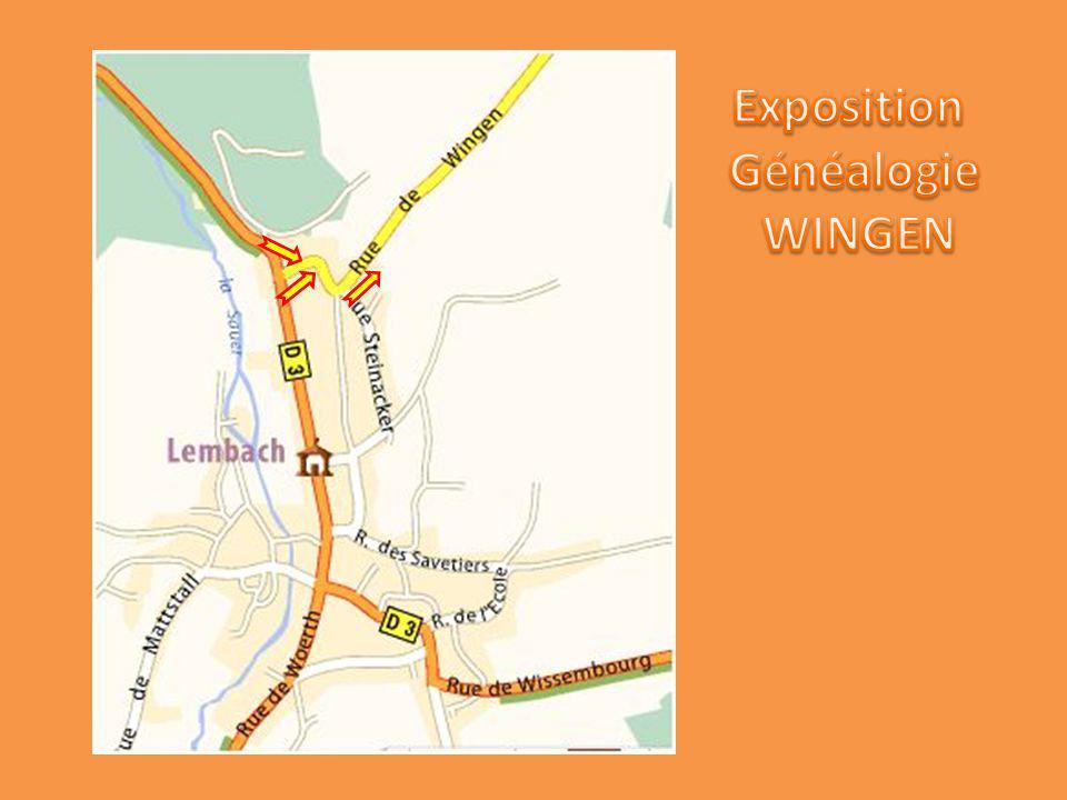 Exposition Généalogie WINGEN