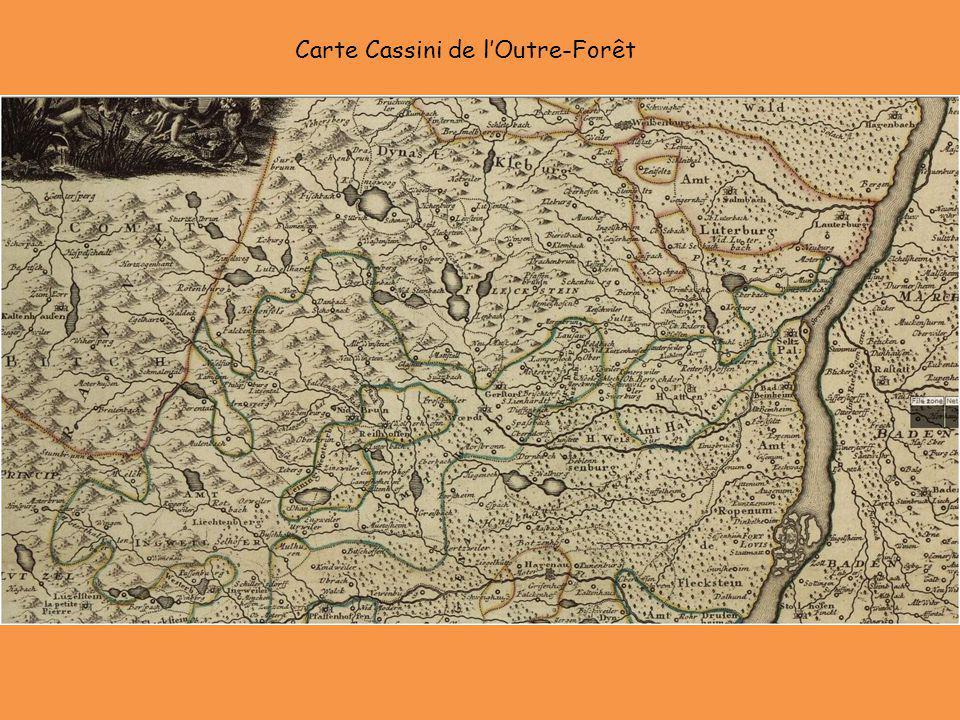 Carte Cassini de l'Outre-Forêt