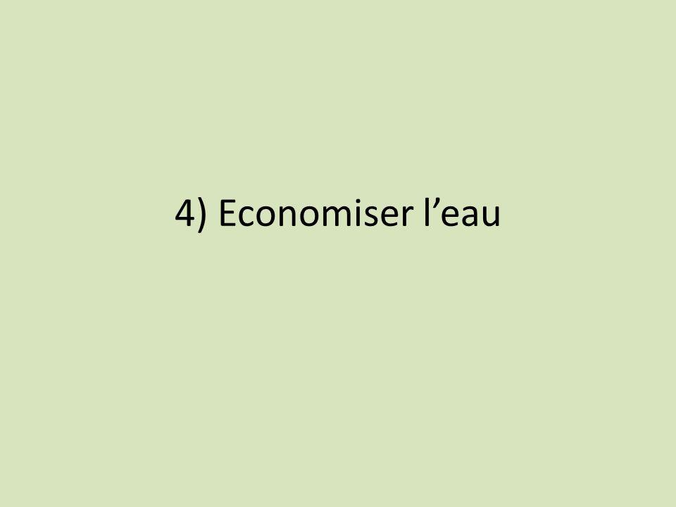 4) Economiser l'eau