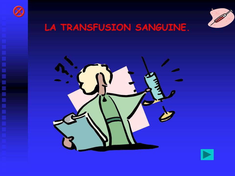 LA TRANSFUSION SANGUINE.