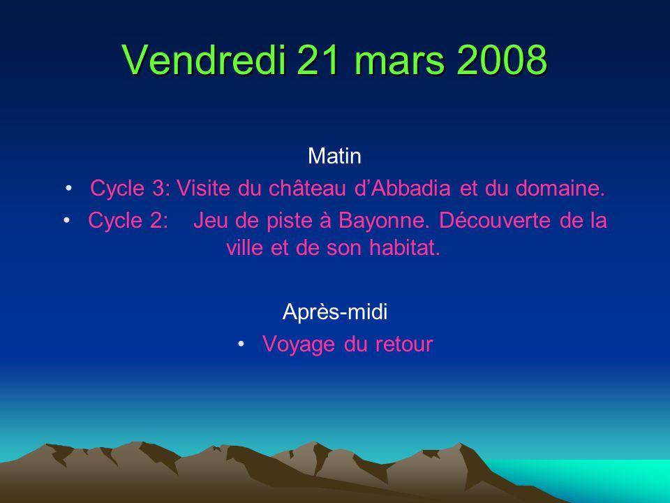 Cycle 3: Visite du château d'Abbadia et du domaine.